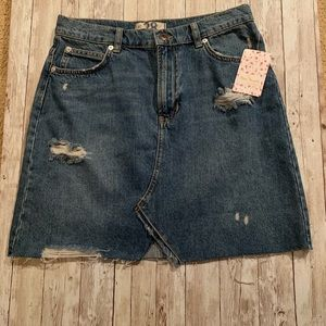 Free People Denim Mini Skirt NWT